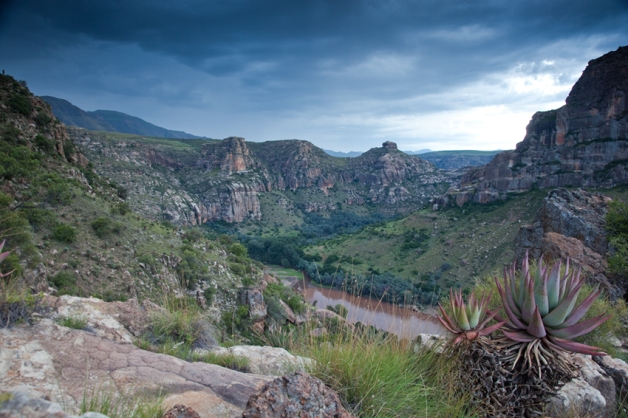 View over the Senqu River in Lesotho.